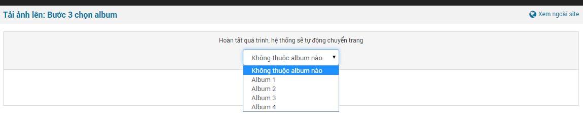 buoc 3 chon album