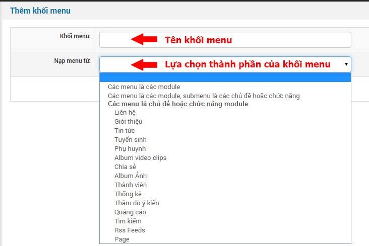 them khoi menu