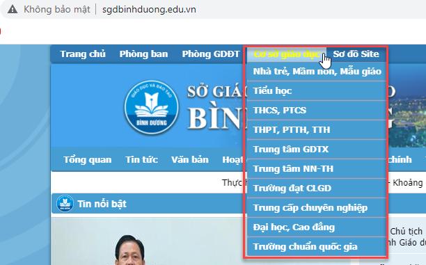 Đánh giá Cổng thông tin điện tử Sở Giáo dục Bình Dương (cổng thông tin)