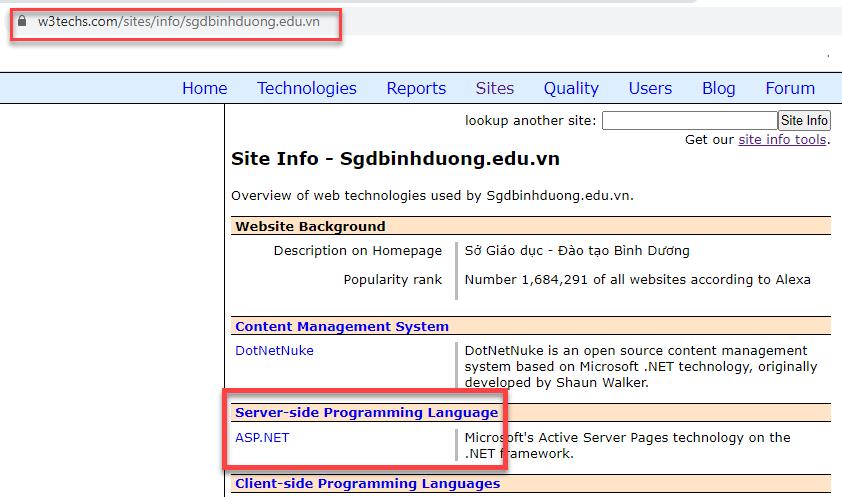 Đánh giá Cổng thông tin điện tử Sở Giáo dục Bình Dương (mã nguồn)