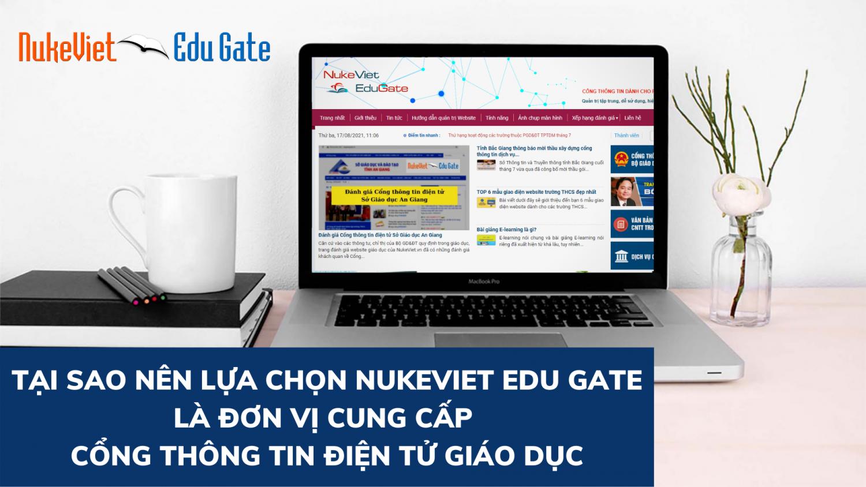 Tại sao nên lựa chọn NukeViet Edu Gate là đơn vị cung cấp Cổng thông tin điện tử giáo dục